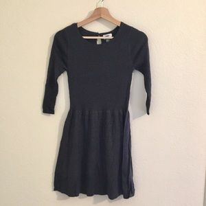 Fit and flare sweater dress | charcoal grey